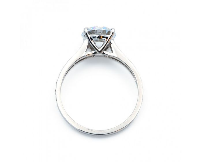 18Kt White Gold Tapered Setting