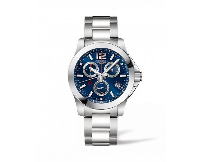 Conquest 41Mm Blue Dial Chronograph L37004966