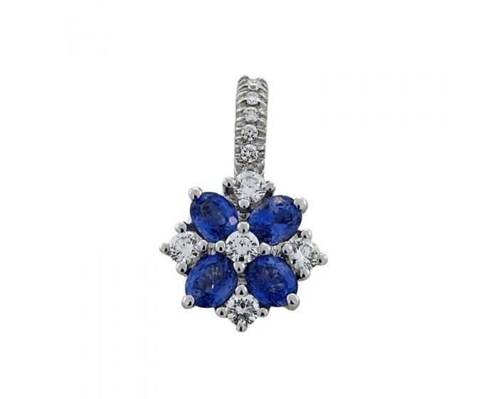 Crivelli 18kt White Gold Diamond and Sapphire Earrings (.78 ct. tw.)