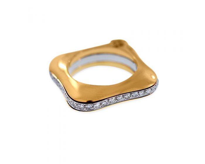 18kt Two Tone Gold Diamond La Nouvelle Bague Ring (.72 ct. tw.)