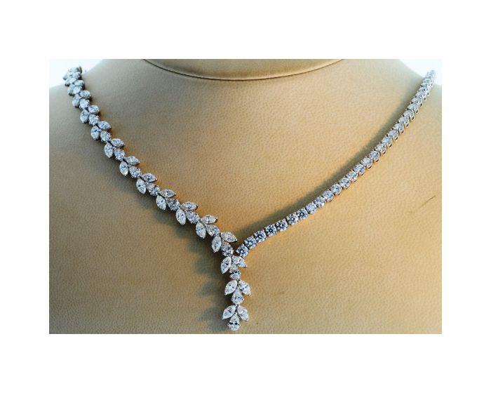 Platinum Multi-Shaped Diamond Necklace (23.86 ct. tw.)
