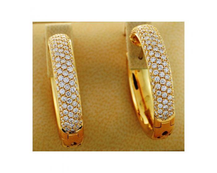 18kt Yellow Gold Hoop Leo Pizzo Earrings (3.33 ct. tw.)