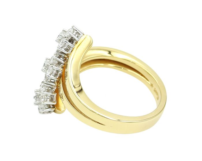Leo Pizzo 18kt Two Tone Gold Diamond Ring (.74 c.t.w.)