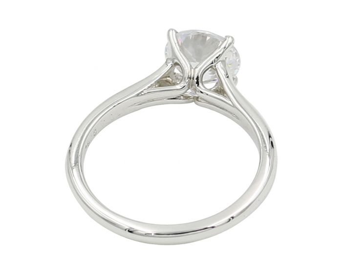 18kt White Gold Engagement Setting