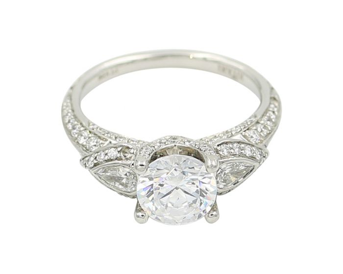 Alicia's Jewelers Platinum Diamond Three Stone Setting (0.89 c.t.w.)