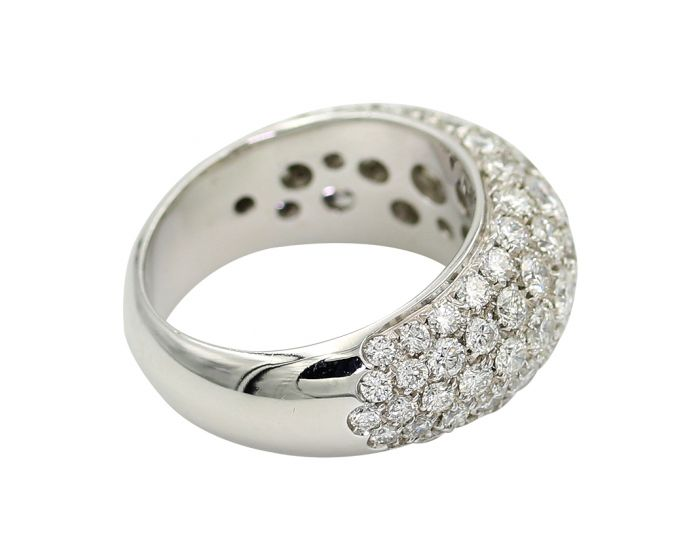 Crivelli 18Kt White Gold Diamond Wedding Band 3.40 C.T.W.