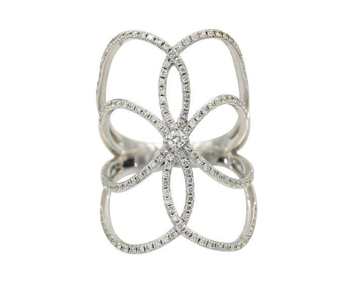 14KT White Gold Diamond Ring .62 C.T.W.