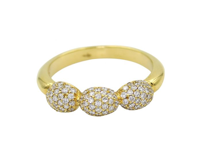 Rhonda Faber Green 18kt Yellow Gold Ring .56 c.t.w.