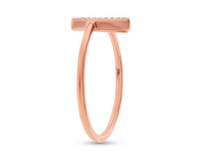 14k Rose Gold Diamond Open Ring .06 c.t.w.